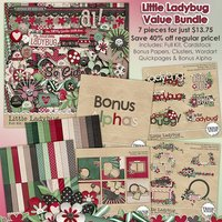 Little Ladybug Digital Scrapbooking Value Bundle