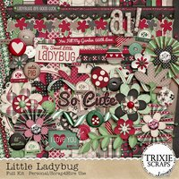 Little Ladybug Digital Scrapbooking Full Kit Beetle Lady Bug