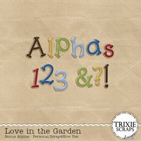Love in the Garden Digital Scrapbooking Bonus Alphas