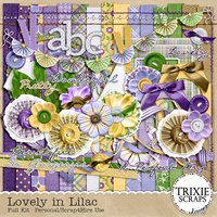 Lovely in Lilac Digital Scrapbooking Kit Seasons Spring Flowers