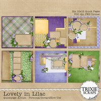 Lovely in Lilac Digital Scrapbooking Quickpages Girls Formal