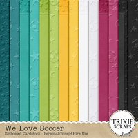 We Love Soccer Digital Scrapbooking Embossed Cardstock