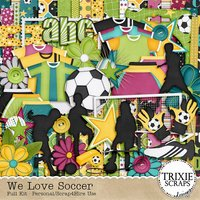 We Love Soccer Digital Scrapbooking Full Kit Football Futbol