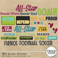 We Love Soccer Digital Scrapbooking Word Snips Football Futbol
