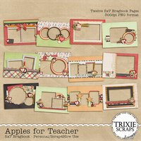 Apples for Teacher Digital Scrapbooking Bragbook