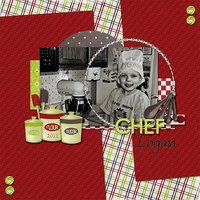 Master Chef Digital Scrapbooking Cardstock Cooking Recipes