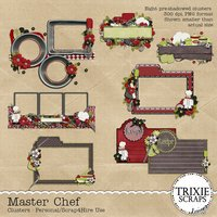 Master Chef Digital Scrapbooking Clusters Cooking Recipes