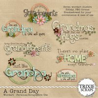A Grand Day Digital Scrapbooking Wordart