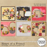 Heart of a Friend Digital Scrapbooking Quickpages
