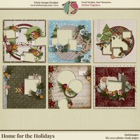 Home for the Holidays Digital Scrapbooking Quickpages