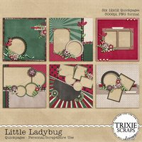 Little Ladybug Digital Scrapbooking Quickpages