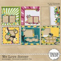 We Love Soccer Digital Scrapbooking Quickpages Football Futbol