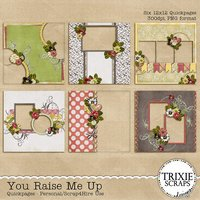 You Raise Me Up Digital Scrapbooking Quickpages
