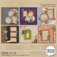 Rise to It Digital Scrapbooking Quickpages