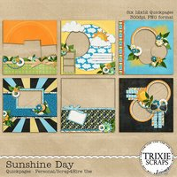 Sunshine Day Digital Scrapbooking Quickpages Summer