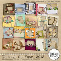 Through the Year 2012 Digital Scrapbooking Quickpage Album