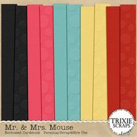 Mr. & Mrs. Mouse Digital Scrapbooking Embossed Cardstock Disney