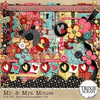 Mr. & Mrs. Mouse Digital Scrapbooking Kit Kid Fun Disney