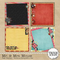 Mr. & Mrs. Mouse Digital Scrapbooking Page Starters Disney