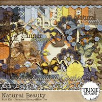 Natural Beauty Digital Scrapbooking Kit Camping Outdoor