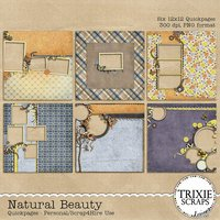 Natural Beauty Digital Scrapbooking Quickpages