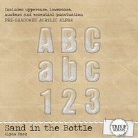 Sand in the Bottle Digital Scrapbooking Alpha