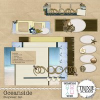 Oceanside Blogwear Set Blogger Template Theme