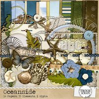 Oceanside Digital Scrapbooking Kit Beach Travel Vacation