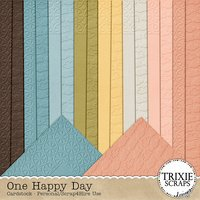 One Happy Day Digital Scrapbooking Cardstock