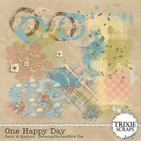 One Happy Day Digital Scrapbooking Paint & Scatters