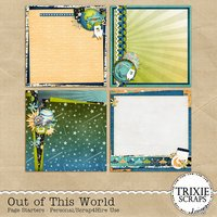 Out of This World Digital Scrapbooking Page Starters Disney