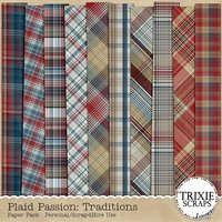 Plaid Passion: Traditions Digital Scrapbooking Paper Pack