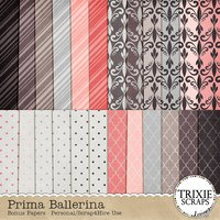 Prima Ballerina Digital Scrapbooking Bonus Papers
