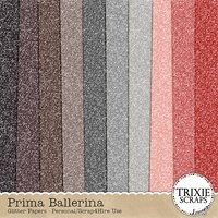 Prima Ballerina Digital Scrapbooking Glitter Papers