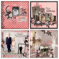 Prima Ballerina Digital Scrapbooking Kit Dance Recital Ballet
