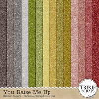 You Raise Me Up Digital Scrapbooking Glitter Papers