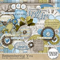 Remembering You Digital Scrapbooking Full Kit Memorial Funeral