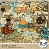 Rescue Me Digital Scrapbooking Kit Animal Dogs Cats Puppy Kitten