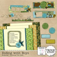 Riding with Boys Blogger Template Theme Kids Sports