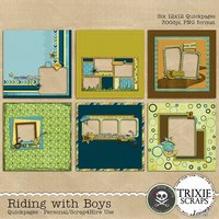 Riding with Boys Digital Scrapbooking Quickpages Boys Sports Kids