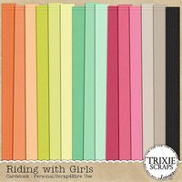 Riding with Girls Digital Scrapbooking Cardstock Pack Kids Sports