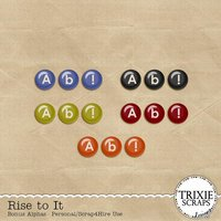 Rise to It Digital Scrapbooking Bonus Alphas