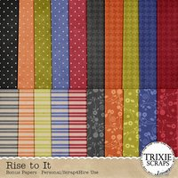 Rise to It Digital Scrapbooking Bonus Papers