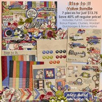 Rise to It Digital Scrapbooking Value Bundle
