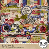 Rise to It Digital Scrapbooking Full Kit