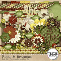 Roots & Branches Digital Scrapbooking Kit Nature Family Tree