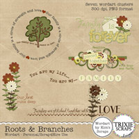 Roots & Branches Digital Scrapbooking Wordart
