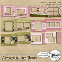 Always in my Heart Digital Scrapbooking Bragbook