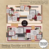 Seeing Double volume 13 Digital Scrapbooking Templates PSD/TIF/PAGE