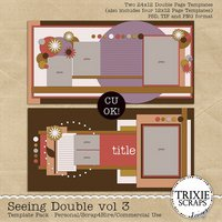 Seeing Double Volume 3 Digital Scrapbooking Templates PSD/TIF/PAGE